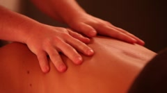hands doing massage - stock footage