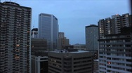 Night Falling Calgary AB Stock Footage