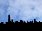 Stock Video Footage of Chicago skyline with timelapse clouds animation