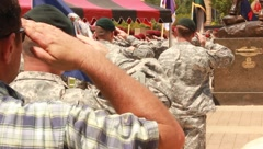 Soldiers Saluting During Taps (HD) co Stock Footage