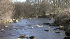 River near Reeth in Swaledale. Stock Footage