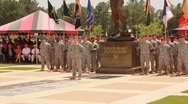 Stock Video Footage of Soldiers at Attention During Memorial (HD) co