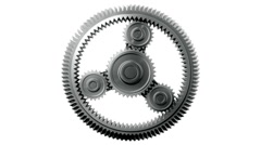 Gears HD 1080, Loopable, Alpha. - stock footage