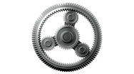 Gears HD 1080, Loopable, Alpha. Stock Footage