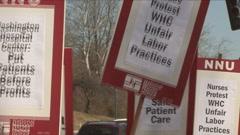 Nurses Strike Stock Footage