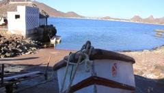 Stock Video Footage of Seaside Fishing Boat
