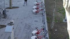 Bicing barcelona bike share Stock Footage