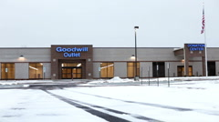 Goodwill Outlet location Kettering Ohio Stock Footage