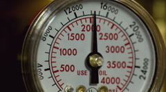 Needle on pressure gauge falling to zero - stock footage