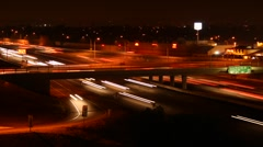 Freeway at Night Stock Footage