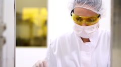 Pharmaceutical Technician At Work-Montage Stock Footage
