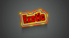 Exotic Label Stock Footage
