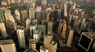 Kuala Lumpur 004 Aerial Skyline, view to Business Center and City Center Stock Footage