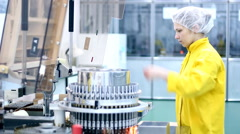 Pharmaceutical Machine Stock Footage