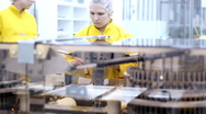 Ampules On The Conveyor Belt - Montage Stock Footage