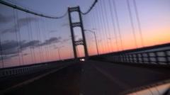 Mackinaw Bridge POV Stock Footage