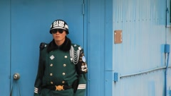South Korean Military Police Officer (HD) co - stock footage