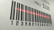 Stock Video Footage of Scanning barcode