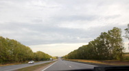 Riding on road Stock Footage