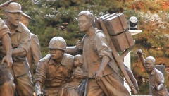 Soldier Monument at the South Korea War Museum (HD) co Stock Footage