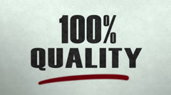 Stamp of 100% Quality Stock Footage