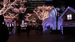 Lights in Seoul, South Korea (HD) k Stock Footage