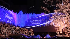 Christmas Lights in Seoul, South Korea (HD) co Stock Footage