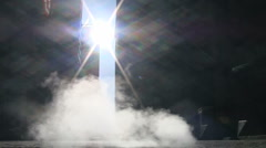 Steam rises from a manhole cover into the Wall Street Sunlight - stock footage