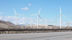 Stock Video Footage of Windmill power speeding cars fast P HD 8844