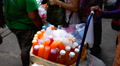 Woman Selling Water and Juices, Colourful Street Food Life in Bangkok, Thailand Footage