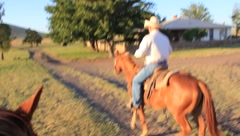 Rancher Riding His Horse (HD) co Stock Footage