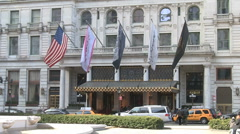 Plaza Hotel New York Stock Footage