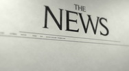 Animated newspaper cover Stock Footage