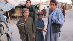 Afghan Children in the Street (HD) co Stock Footage