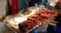 Thai Food, Colourful Street Food Life in Bangkok, Thailand Footage