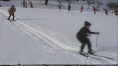 Winter school trip in the 1960s (vintage 8 mm amateur film) Stock Footage