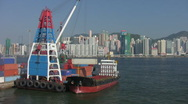 Container Ship Loading, Hong Kong Stock Footage