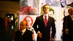 Amsterdam Wax Museum at Imax Eilat - stock footage