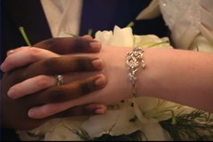 Black White Wedding Hands 2 Stock Footage