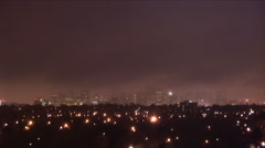 Denver city night mist-5 time lapse Stock Footage