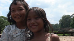 Children in front of camera - stock footage