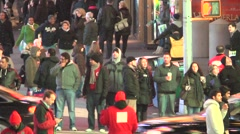 Stock Video Footage of New York CIty Crowed Cross Walk Time Lapse
