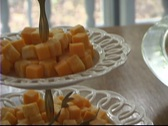 Stock Video Footage of Cheese and Vegetable Trays