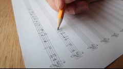 Song writing Stock Footage