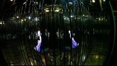 Luna Park: mirror matrix labyrinth Stock Footage