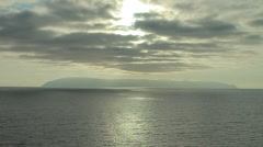 Stock Video Footage of Catalina Island on the Horizon