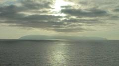 Catalina Island on the Horizon - stock footage