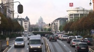 Stock Video Footage of Brussels Urban Traffic And Capitol-Pond JPEG Export
