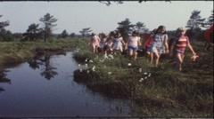 School trip in the 1960s (vintage 8 mm amateur film) Stock Footage