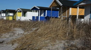 Beach Cabins Stock Footage